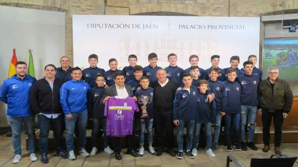 Jaén.- MásJaén.- Recibimiento a la selección provincial infantil de fútbol, subcampeona de Andalucía