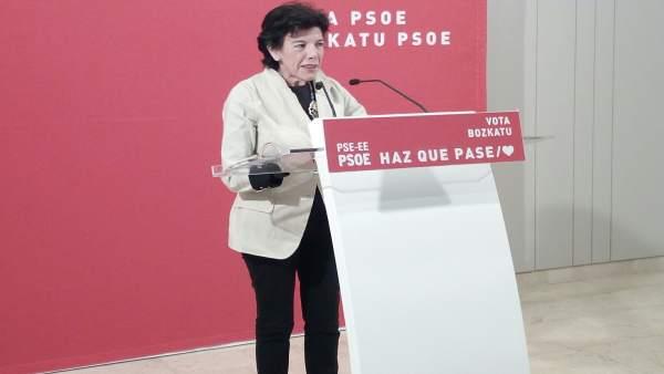 28A.-Celaá Anuncia Que PSOE Revertirá Los Recortes De PP, Que Han Dejado La Enseñanza Y La Investigación Como Un 'Erial'