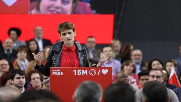 26M.- Chivite afirma que el PSN está 'preparado' para liderar el Gobierno y defiende que Navarra 'necesita progreso'