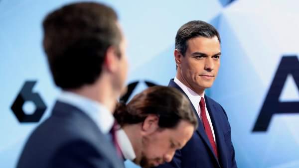 Sánchez, durante el debate