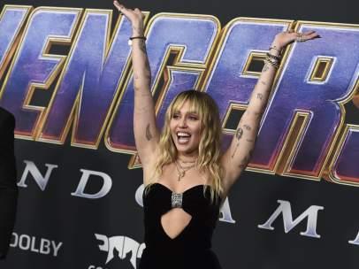Miley Cyrus en la premiere de 'Vengadores: Endgame'