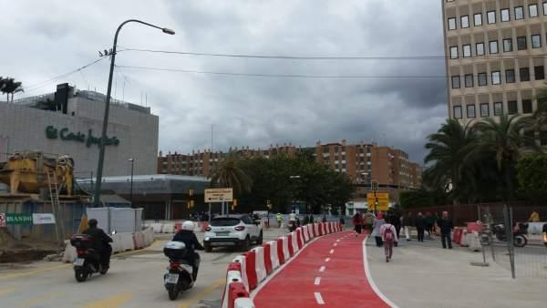 Málaga.- Abierto al tráfico el nuevo desvío del Paso del Nazareno por la obra del metro