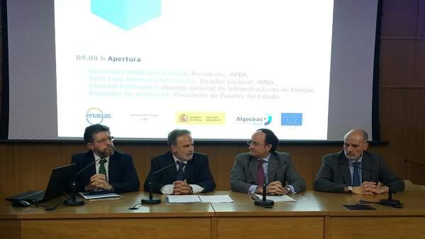 Cádiz.-Puertos.- Los puertos del proyecto CORE LNGas hive, preparados para abastecer gas natural licuado (GNL) a barcos