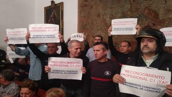 Córdoba.- Los sindicatos del Consorcio de Bomberos interpretan que el Ministerio aprueba el paso a C1
