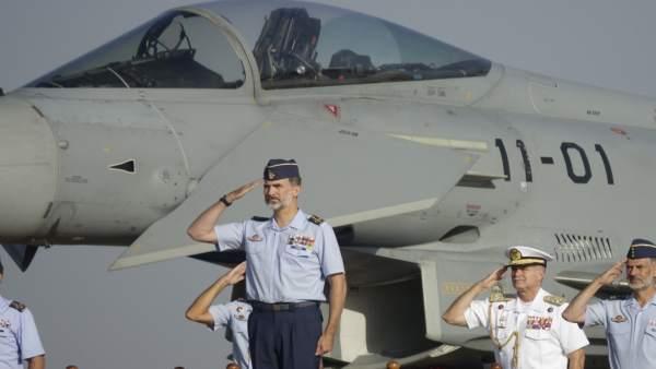 El Rey Felipe, en la Base Aérea de Morón