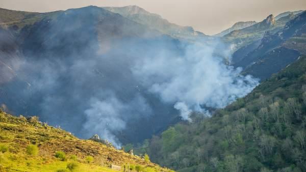 Sofocados cuatro incendios en Vega de Pas, Valdáliga y Soba
