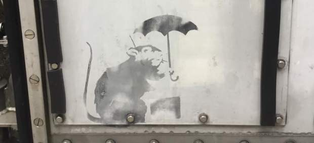 Japón expone un posible grafiti de Banksy pese a las dudas sobre su autoría