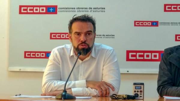 EPA.- Zapico (CCOO) denuncia la 'situación de emergencia' que vive Asturias