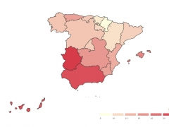 Cifras de paro por Comunidades