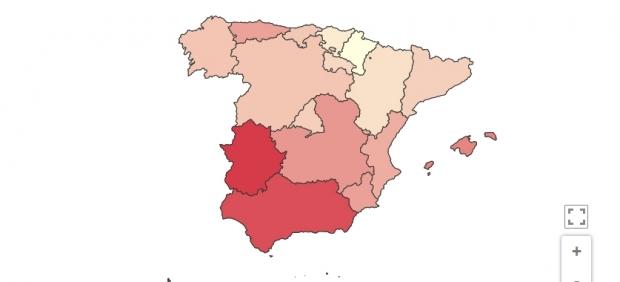 Así están los datos de paro por comunidades: fuerte aumento en Baleares