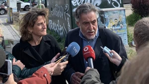 Pepu Hernández en declaraciones a los medios.