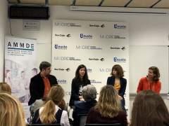 De izquierda a derecha, Arráez, Requena, Pinar y Marta Lamas, de Madrid Foro Empresarial.