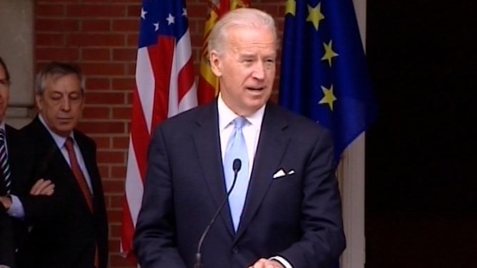 El precandidato demócrata Joe Biden.