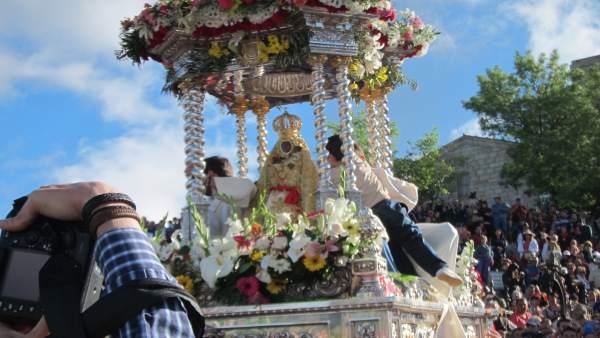 Procesión de la Virgen de la Cabeza de 2014, en Andújar (Jaén)