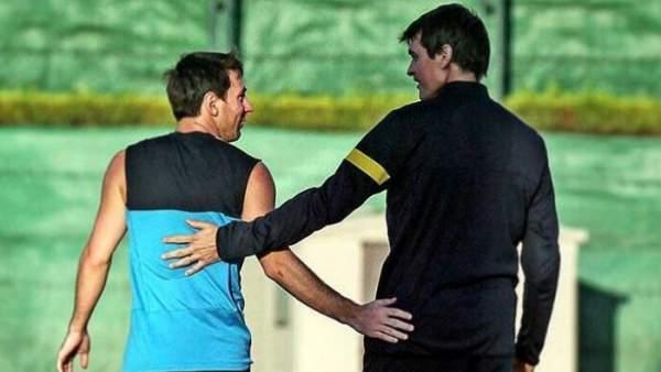 Messi y Tito Vilanova