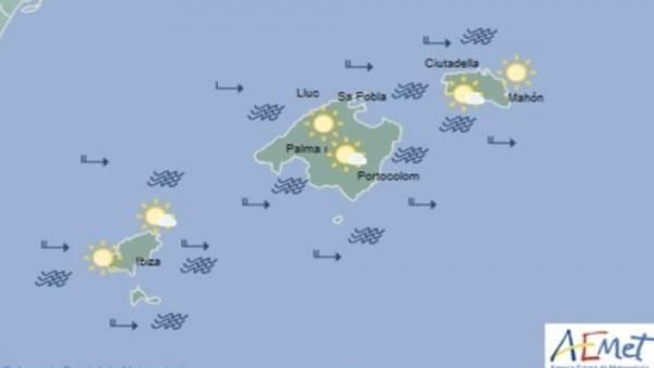 Predicción meteorológica para este viernes 26 de abril en Baleares: