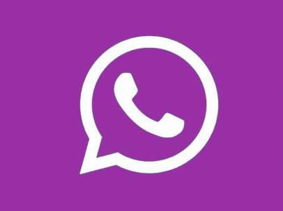 Logo de WhatsApp de color morado.