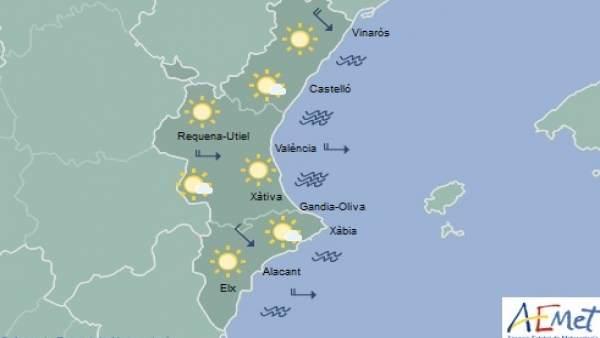 Cels clars i màximes de 23 graus aquest divendres a la Comunitat Valenciana