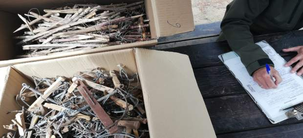 Cádiz.-Sucesos.- Retirados 760 artilugios usados para caza furtiva en el Parque de los Toruños