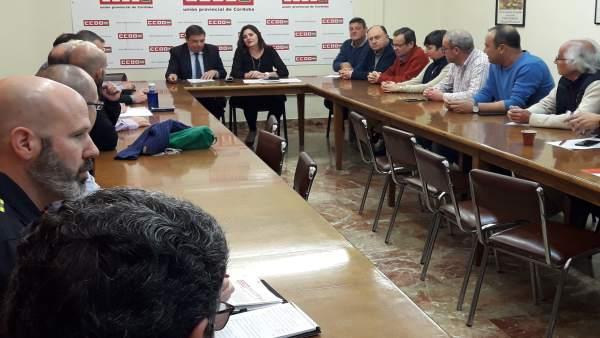 Córdoba.- 28A.- CCOO traslada al PSOE sus reivindicaciones para el nuevo gobierno de la Nación