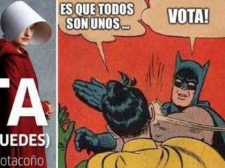 "La campaña ""vota, por favor"""