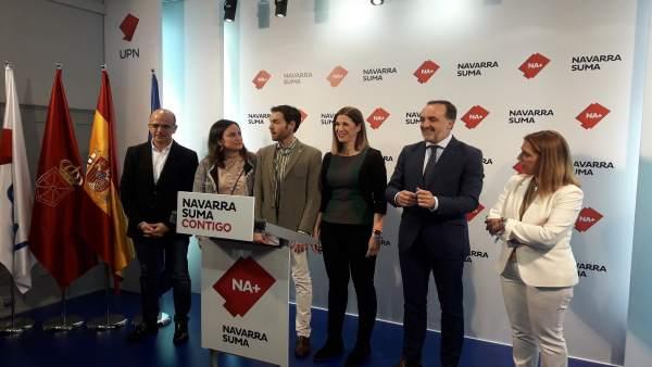 28A.- Javier Esparza Dice Que Navarra Suma Es 'El Voto Eficaz Para Que No Mande El Independentismo'
