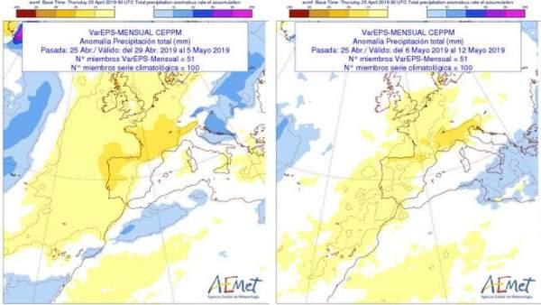 La Aemet prevé dos semanas con temperaturas por encima de lo normal, más propias del mes de junio