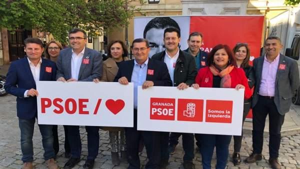 Granada.- 28A.- Entrena (PSOE) pide una 'gran movilización' para que la provincia 'siga progresando'