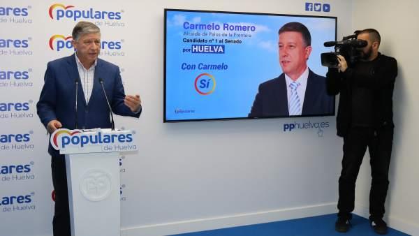 Huelva.-28A.- PP reprocha a PSOE no destinar 'ni un euro' para el AVE de Huelva y licitar 600 millones para el extremeño