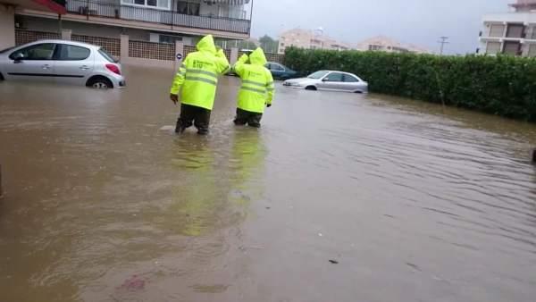 Remite el temporal tras dejar más de 300 l/m2 en Xàbia, donde no llovía tanto desde la riada de 1957