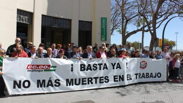 Málaga.- CCOO y UGT de Málaga exigen más prevención para reducir los accidentes laborales