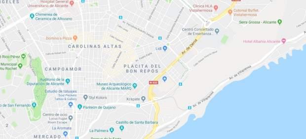 N-332 a su paso por Alicante