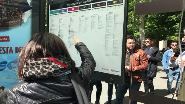 Zaragoza.- La red de autobuses urbanos se rediseña con un grafismo más visual y comprensible