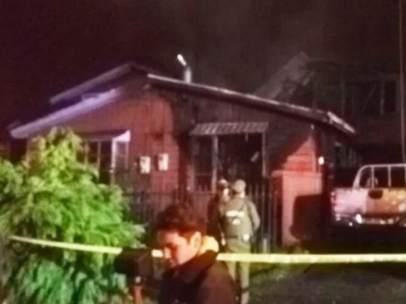 Mueren tres niños en un incendio al sur de Chile.