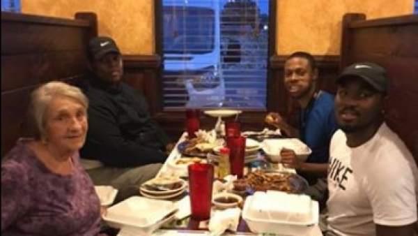 Tres amigos que cenaron con una viuda a al que acababan de conocer en Alabama.