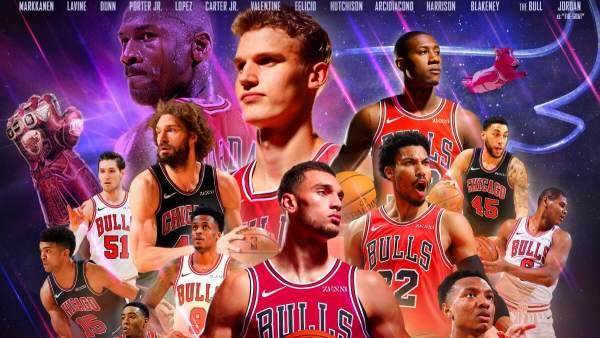 Chicago Bulls imita a Los Vengadores