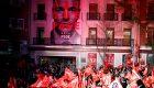 Euforia en la sede del PSOE en Madrid