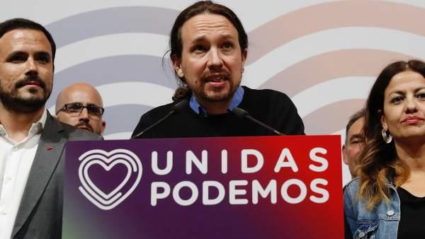 Iglesias valora los resultados de Unidas Podemos