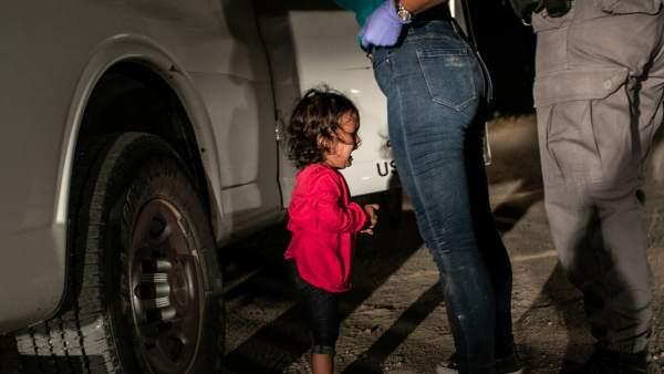 """""""Crying Girl on the Border"""", premio World Press Photo del Año."""