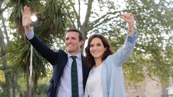 Pablo Casado con Isabel Díaz Ayuso