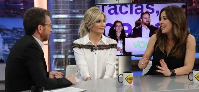 Sandra Golpe y Mamen Mendizábal, en 'El hormiguero'.