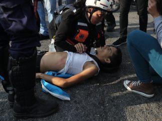 Primeros heridos en el levantamiento de Caracas