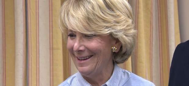 Esperanza Aguirre delcara en el Congreso de los Diputados