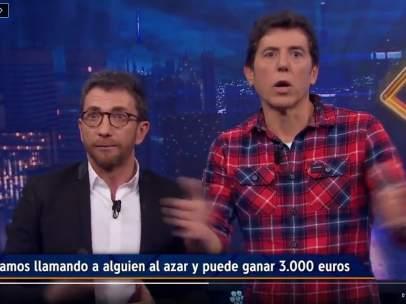 Pablo Motos y Manel Fuentes, en 'El hormiguero'.