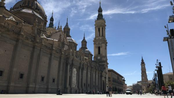 Basílica del Pilar y Catedral de la Seo, en la plaza del Pilar