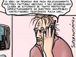 Abuso telefónico, viñeta de Superantipático