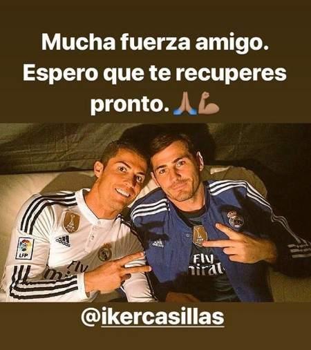 Mensaje de Cristiano Ronaldo a Casillas en instagram
