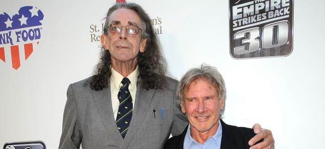 Peter Mayhew y Harrison Ford