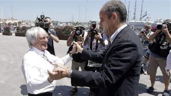 Francisco Camps con Bernie Ecclestone