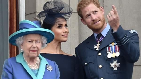 La reina Isabel y Meghan Marke